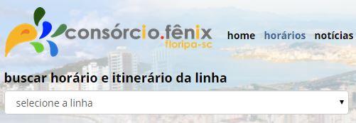HORARIO ONIBUS / CONSORCIO FENIX / ONIBUS FLORIANOPOLIS / HORARIO DE ONIBUS, PASSAGEM / TARIFA