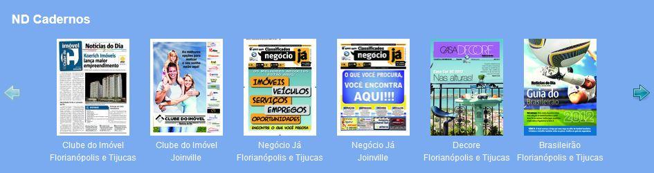 Ler o jornal Notícias do Dia de hoje e as últimas notícias de SC no Portal ND Online.
