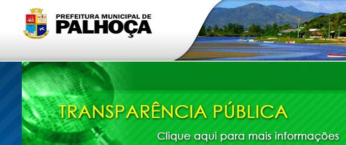 Site da Prefeitura Municipal de Palhoça SC