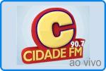 Ouça ao vivo a rádio Cidade FM 90,1