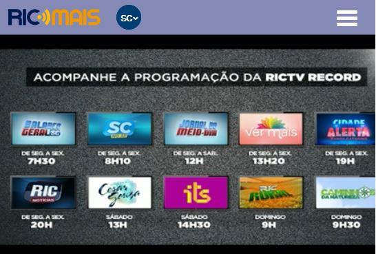 TV RIC Record SC / AO VIVO
