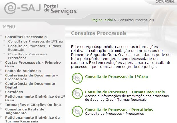 TJ SC Comarcas e Consultas Online de Processos e Impressão de Documentos
